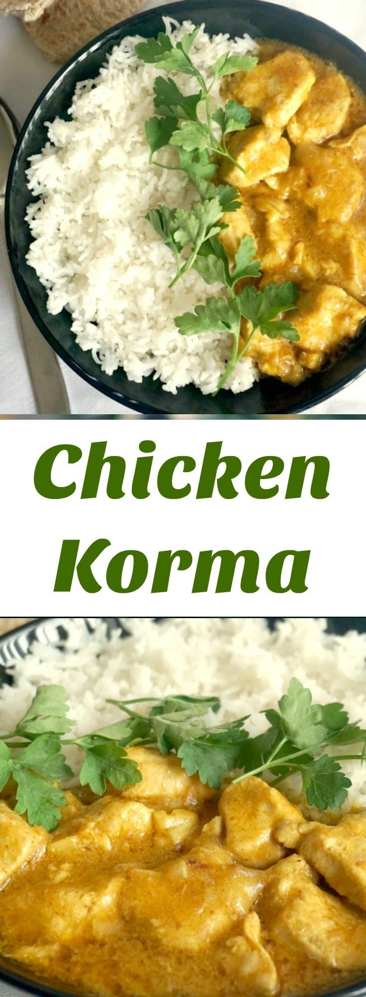 Chicken Korma, one of the most delicious Indian curry recipes. The coconut milk and ground almonds bring so much flavour to this dish, making it a favourite recipe for a family dinner.
