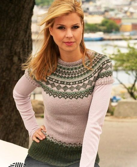пуловер спицами схемы