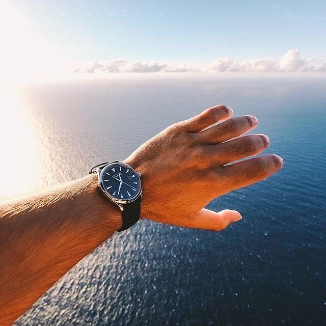 Horizons and boundaries are in touchable distances. Movado Heritage Series Calendoplan watch. Unreal photograph courtesy of @dmalikyar : @movado . #movado #watch #watches