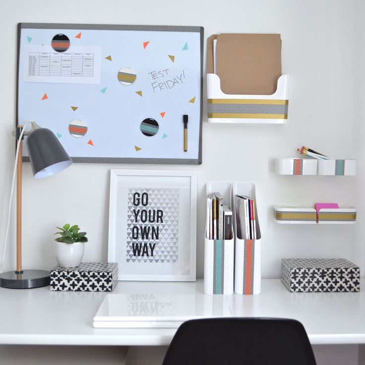 25 best desk organization trending ideas on pinterest - Organized office desk ...