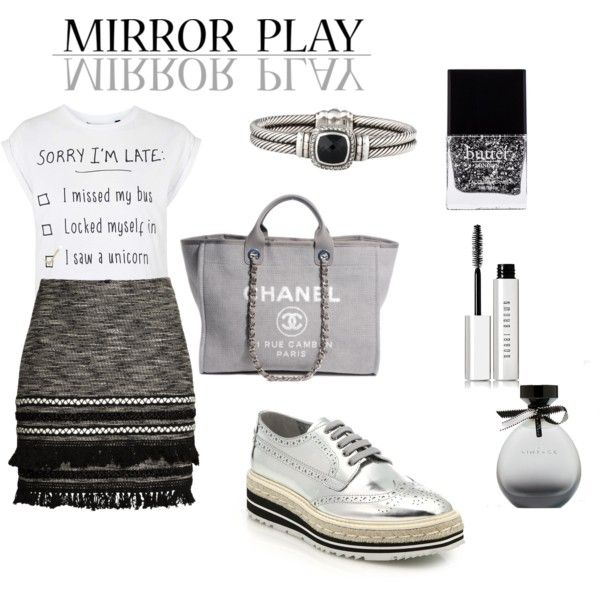 shining moments by karina-araya on Polyvore featuring polyvore fashion style Tee and Cake H&M Prada Chanel David Yurman Bobbi Brown Cosmetics American Eagle Outfitters Butter London