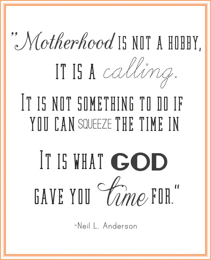 on being a mom.