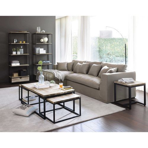 3 tables basses tag res long island maisons du monde - Meuble industriel maison du monde ...