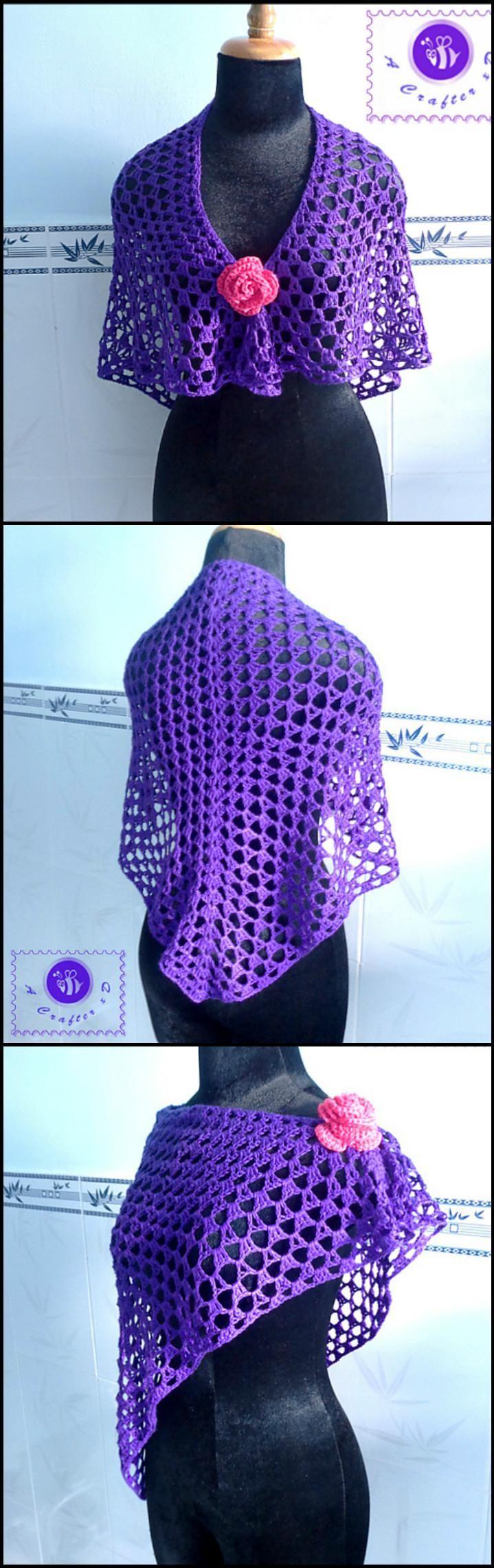100 Free Crochet Shawl Patterns - Free Crochet Patterns - Page 8 of 19 - DIY & Crafts