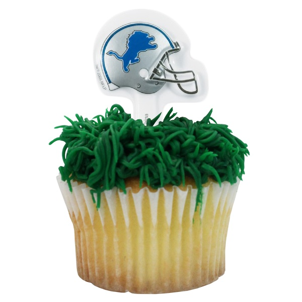 NFL Detroit Lions Cupcake Picks  awesome