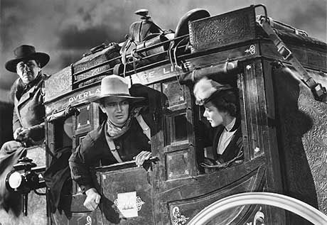 From the film Stagecoach by United Artists - National Board of Review Magazine for March 1939, Volume XIV, Number 3 (front cover), Public Domain