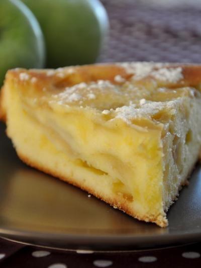 la recette Quatre Quarts aux pommes