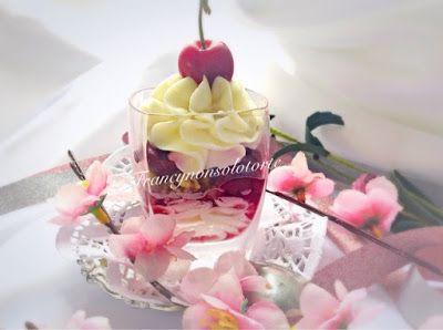 Francy non solo torte: bicchierini mousse mascarpone e ciliegie #dessert #ricettebloggerriunite