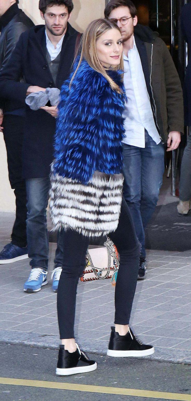 Olivia Palemo arriving At Royal Monceau Hotel In Paris - March 02, 2017