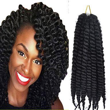 1pcs havana cabelo trança mambo torção Kanekalon sintético preto torções marley excêntricas trançando extensão do cabelo - USD $ 6.99