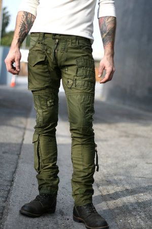Army pant made from authentic army fabrics