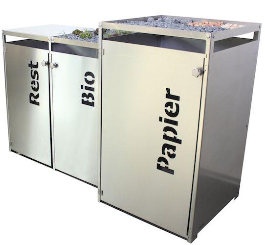 Mülltonnenbox Edelstahl Rest Papier Bio