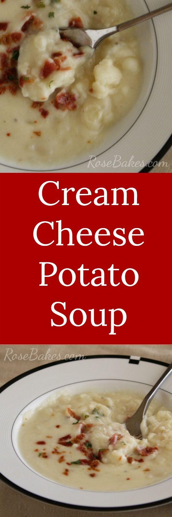 Cream Cheese Potato Soup RoseBakes