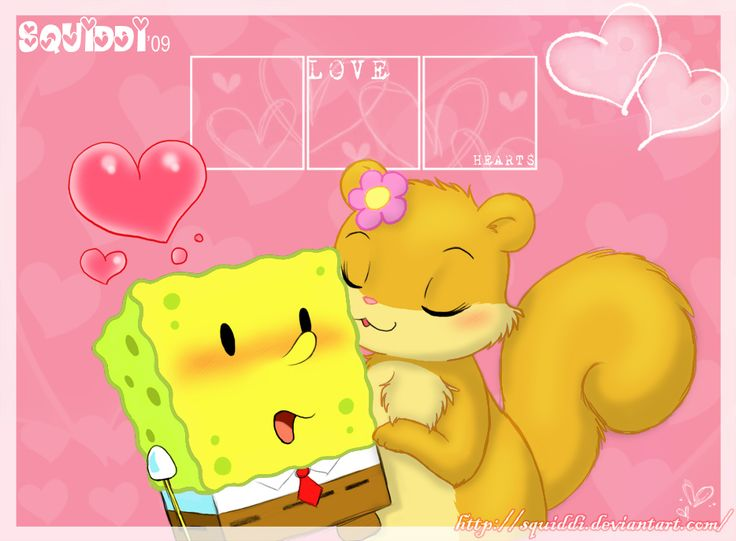 Spongebob + Sandy