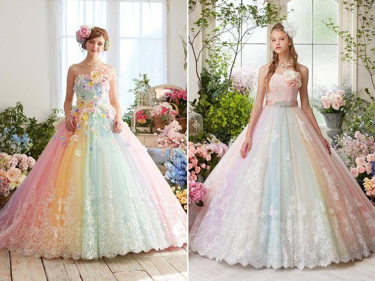 25 best ideas about fantasy wedding dresses on pinterest for Colors of wedding dresses