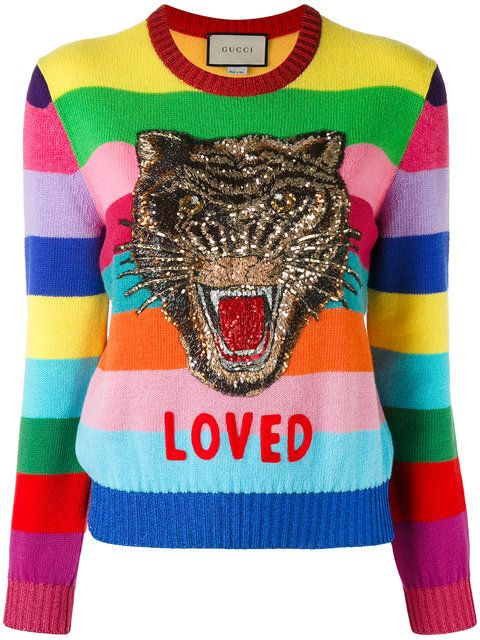 287bdc764 GUCCI Loved Tiger Motif Sweater. #gucci #cloth #sweater | Gucci ...