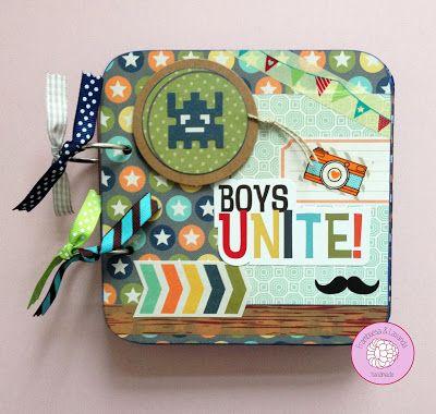 #Mini #álbum #fotos #scrap #handmade #regalos #boys