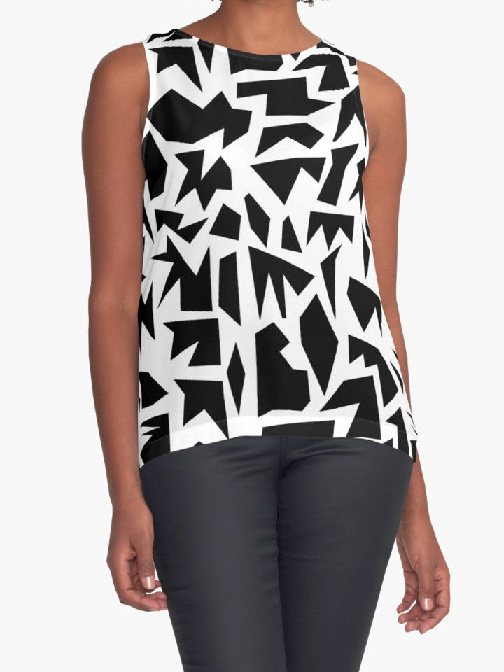 Black & White Pattern Play by HoneyMyrtle
