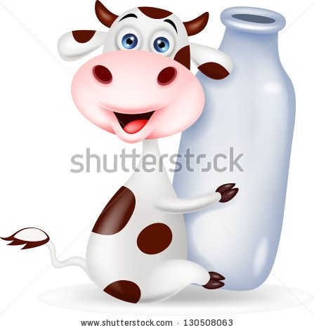 Funny Cow Working On The Farm Illustration vectorielle libre de droits 160129484 : Shutterstock