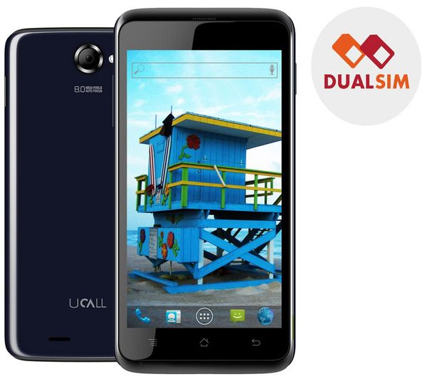 """Ucall MIAMI - Android Phone - GSM / UMTS - 3G - 4 GB - 4.7"""" - IPS - blu + Scheda"""
