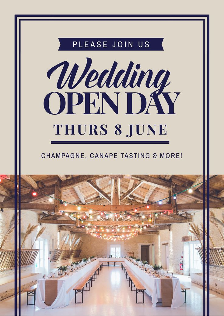 "Wedding ""Open Day"" - How to Get More Event Bookings at your Venue in 2018 - 21 Easy Tips"