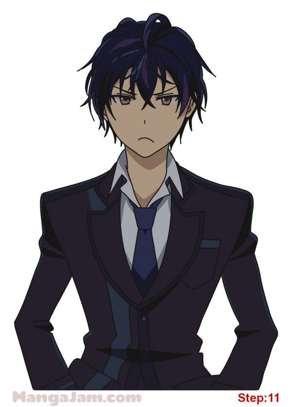 How to Draw Rentaro Satomi from Black Bullet step 11
