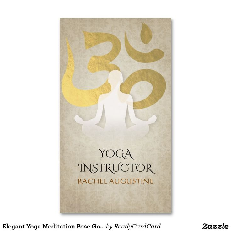 175 best Yoga Business Cards images on Pinterest   Business cards ...