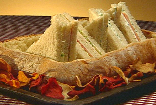 Three Tasty Tea Sandwiches from FoodNetwork.com
