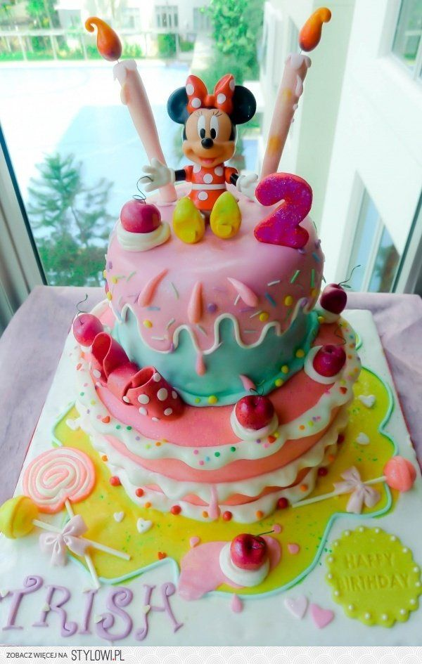 Minnie mouse cake na Stylowi.pl