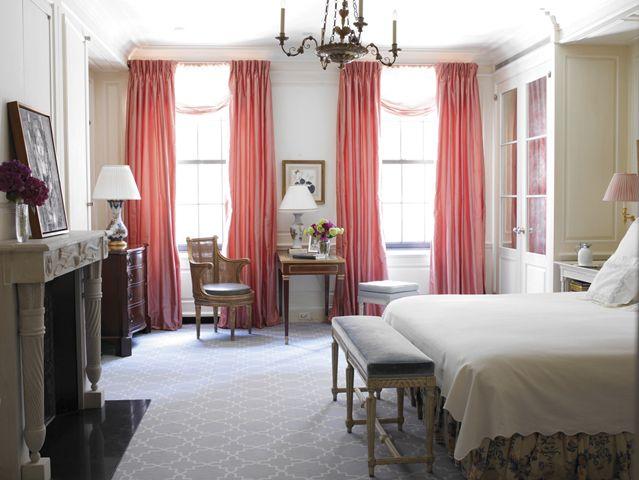 770 Park Avenue, New York | Ferguson & Shamamian pretty master bedroom. Beautiful built-ins