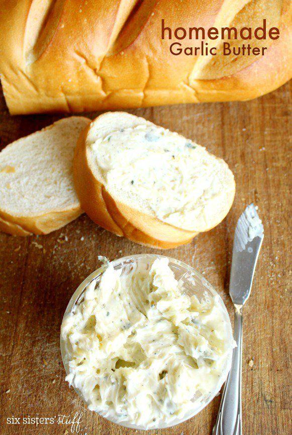 Homemade Garlic Butter from SIxSistersStuff.com