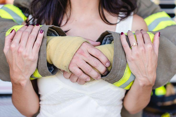 Kiersten Grant Photography - Fire Department Engagement Photos, Fireman, Fiance