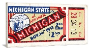 1931 Michigan Football Ticket Art, Michigan Football Tickets. http://www.christmasgiftfootball.com/