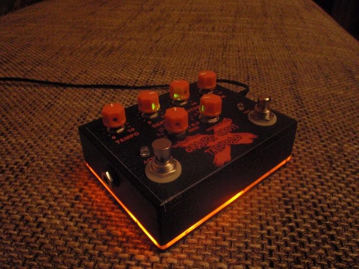 Orange Cross tremolo with tap tempo