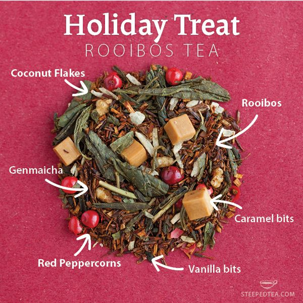A warm blend of Rooibos and Genmaicha will make this your holiday tea tradition! www.mysteepedtea.com/deborah