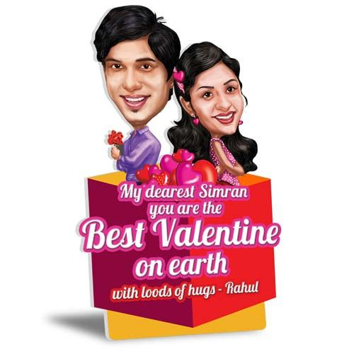 Express your love for her this year in a most unique way. Get your love and you caricatured in a form of a 5X8 size 2D tabletop with your personal message from ferns n petals and make your Valentines most special and romantic. http://www.fnp.com/flowers/caricatures/love-with-caricature/--clI_2-cI_3266-pI_36448-i_36027.html
