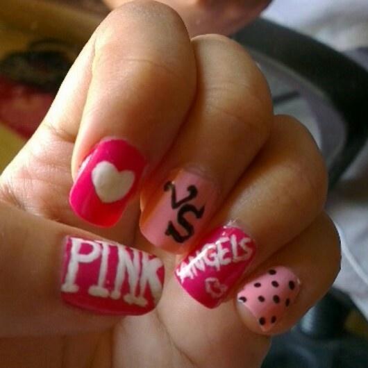 Victoria Secret inspired nail art