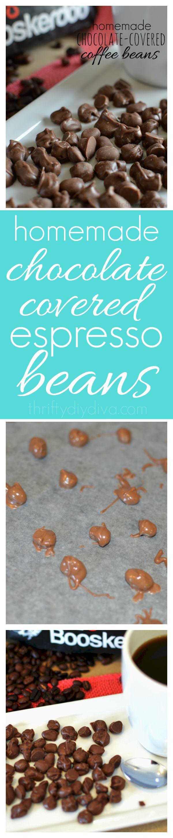 Homemade Chocolate Espresso Coffee Beans