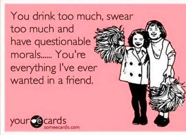 True friendship. Funny