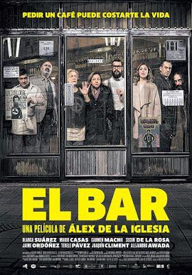 SUDANDO CINE: EL BAR (Alex de la Iglesia, 2017)