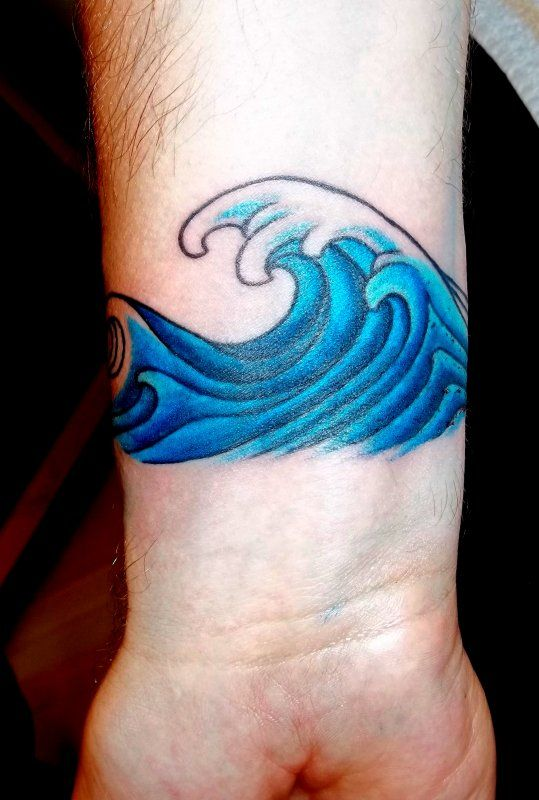 The waves I want in the tattoo I'm gonna get :)