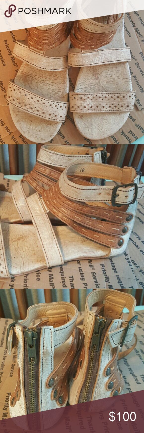 Bed Stu genuine leather sandals Size 10. Excellent condition! Bed Stu Shoes Sandals