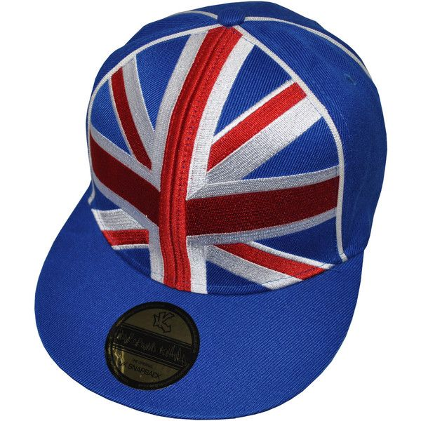 NEW Underground Kulture Great Britain Team GB Union Jack Snapback... ❤ liked on Polyvore featuring accessories, hats, snapbacks, cap, headwear, snapback baseball caps, cap snapback, union jack hat, snap back cap and ball cap hats