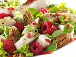 Grilled Chicken, Feta & Raspberry Salad - Great with Righteous Raspberry & Sweet Basil Dressing. C$6.25