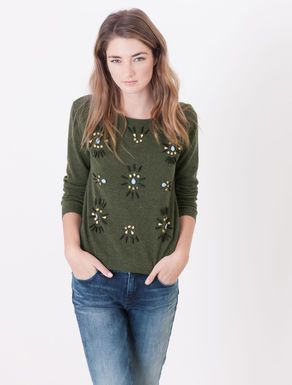 Jumper with jewel detail