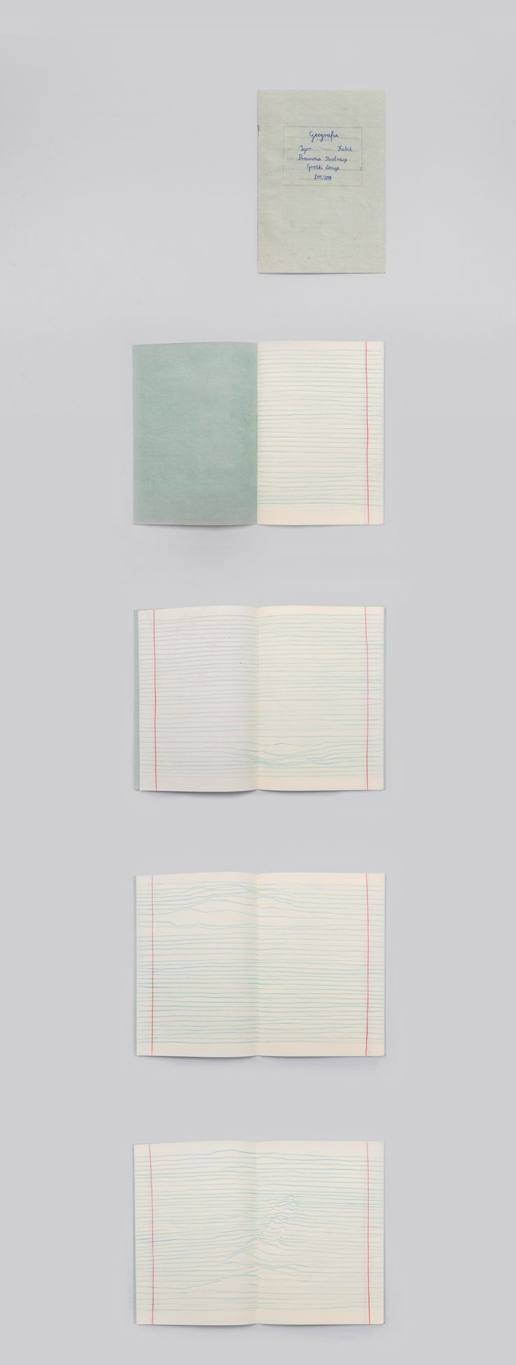 This is a short personal story of depression written on 16 notebook pages. Book design Igor Kubik
