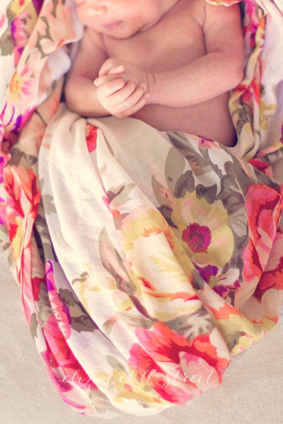 White Baby Swaddle Blanket 47 x 47 Cotton by ModernCelebrations