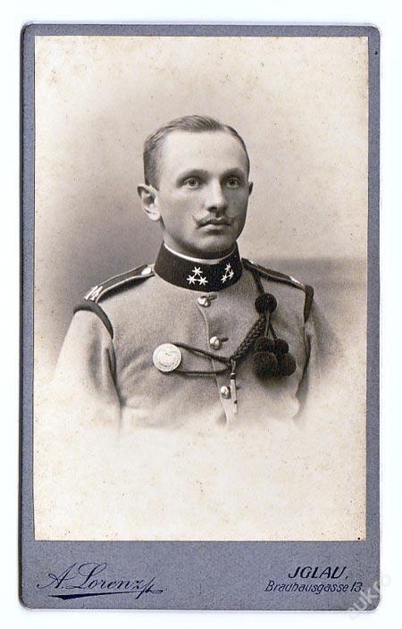kabinetka DŮSTOJNÍK 1. světová válka IGLAU Jihlava