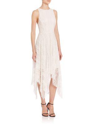 REBECCA MINKOFF Crocheted Lace Handkerchief Dress. #rebeccaminkoff #cloth #dress