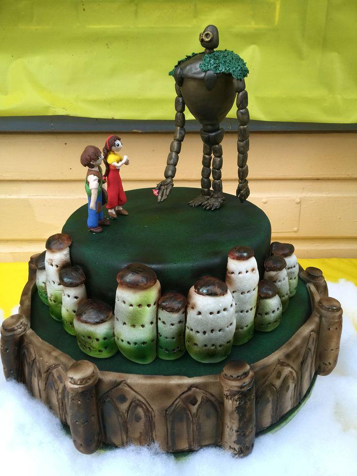 'Laputa: Castle in the sky' cake by Liz Keirs